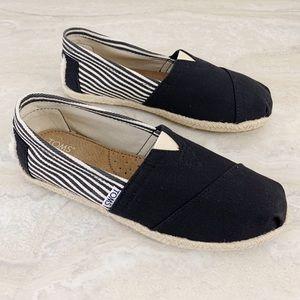 Toms Women's Canvas Slip On Flat Shoes